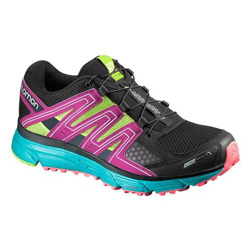 Salomon Womens X Mission 3 CS Running Shoe - Black/Blue 7
