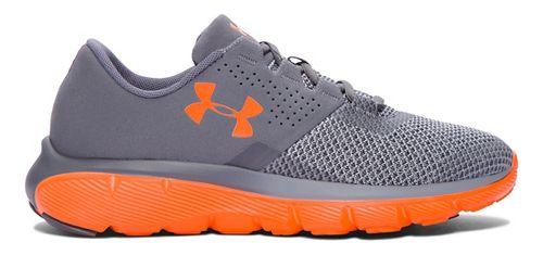 Kids Under Armour Fortis 2 TCK Running Shoe - Graphite/Orange 4.5Y