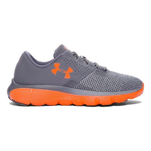 Kids Under Armour Fortis 2 TCK Running Shoe - Graphite/Orange 6Y