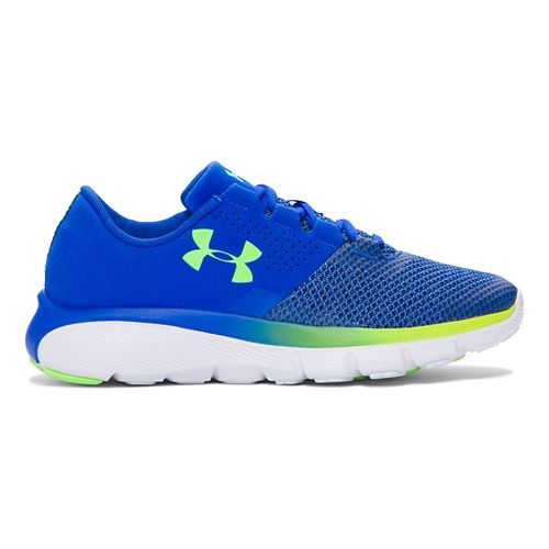 Kids Under Armour Fortis 2 TCK Running Shoe - Ultra Blue/Lime 6Y