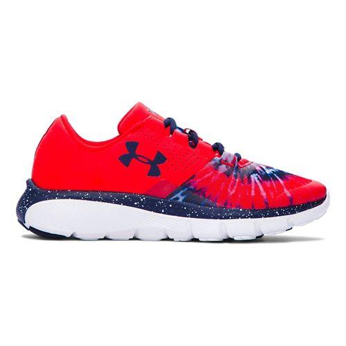 Kids Under Armour Fortis 2 Tie-Dye Running Shoe - Anthem Red/Navy 5.5Y