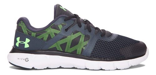 Under Armour Micro G Shift RN  Running Shoe - Stealth Grey/Lime 5Y