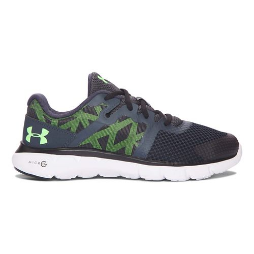 Kids Under Armour Micro G Shift RN Running Shoe - Stealth Grey/Lime 4.5Y
