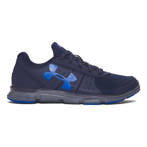 Kids Under Armour Micro G Speed Swift Grit Running Shoe - Navy/Graphite 6Y