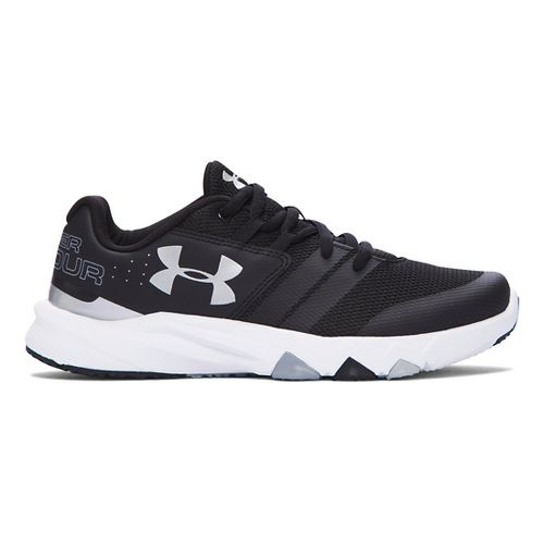 Kids Under Armour Primed Running Shoe - Black/Silver 6.5Y
