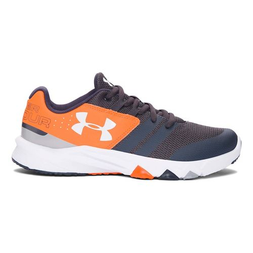 Under Armour Primed  Running Shoe - Stealth Grey/Orange 3.5Y
