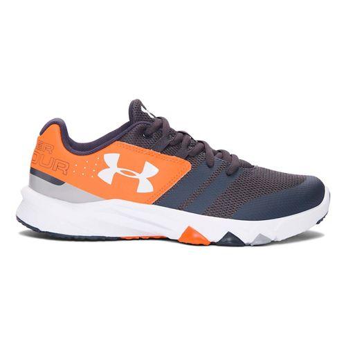 Under Armour Primed  Running Shoe - Stealth Grey/Orange 6Y