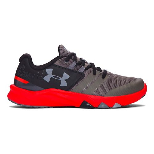 Under Armour Primed  Running Shoe - Graphite/Red 7Y