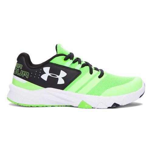 Kids Under Armour Primed Running Shoe - Lime/Black 3.5Y