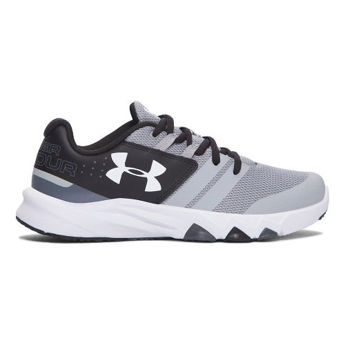 Under Armour Primed  Running Shoe - Overcast Grey/Black 6Y