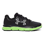 Kids Under Armour ClutchFit RebelSpeed Running Shoe - Black/Lime Light 12C
