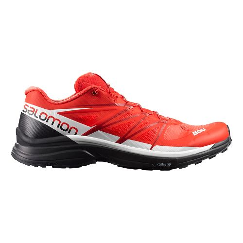Salomon S-Lab Wings 8 Trail Running Shoe - Red/Black/White 11