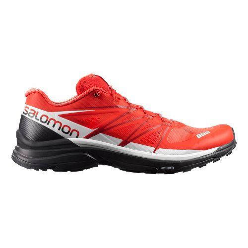 Salomon S-Lab Wings 8 Trail Running Shoe - Red/Black/White 5