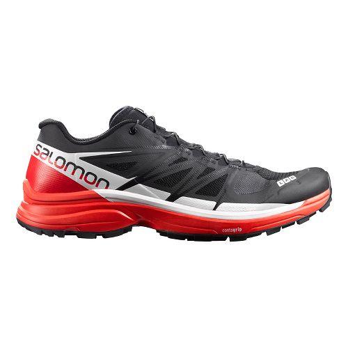 Salomon Womens S-Lab Wings 8 SG Trail Running Shoe - Black/Red/White 12