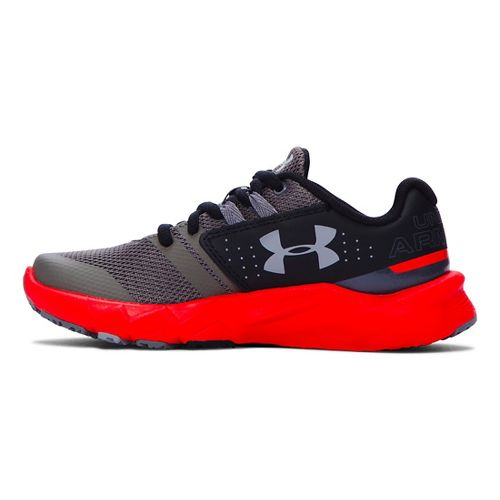 Kids Under Armour Primed Running Shoe - Graphite/Red 11C