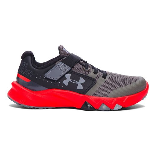 Kids Under Armour Primed AC Running Shoe - Graphite/Anthem Red 11C
