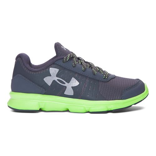 Kids Under Armour Speed Swift Grit Running Shoe - Stealth Grey/Lime 13C