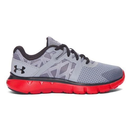 Kids Under Armour Shift RN Running Shoe - Steel/Anthem Red 11C