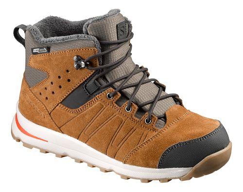 Kids Salomon Utility TS CSWP J Trail Running Shoe - Rawhide/Lava Orange 2Y