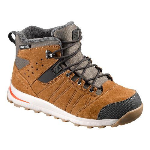 Kids Salomon Utility TS CSWP J Trail Running Shoe - Rawhide/Lava Orange 4Y