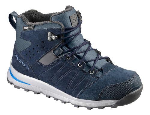 Kids Salomon Utility TS CSWP J Trail Running Shoe - Deep Blue/Pool 1Y