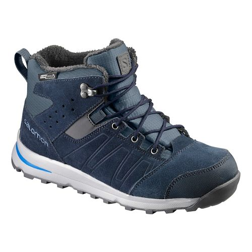 Kids Salomon Utility TS CSWP J Trail Running Shoe - Deep Blue/Pool 13C