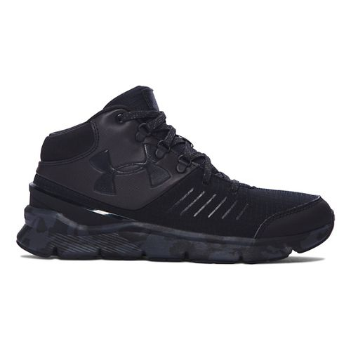 Kids Under Armour Overdrive Mid Marble Running Shoe - Black/Black 6.5Y