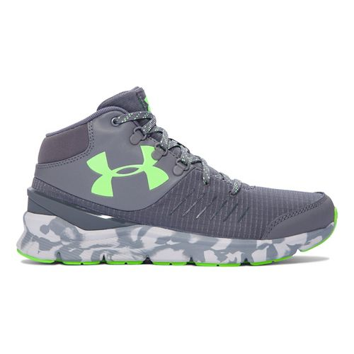 Kids Under Armour Overdrive Mid Marble Running Shoe - Graphite/Steel 5.5Y