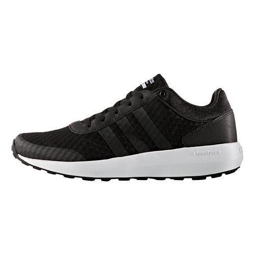 Mens adidas Cloudfoam Race Casual Shoe - Core Black/White 7