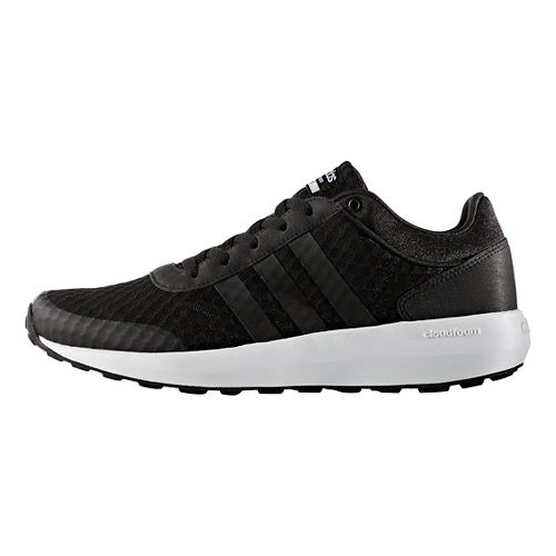 Mens adidas Cloudfoam Race Casual Shoe - Core Black/White 7.5