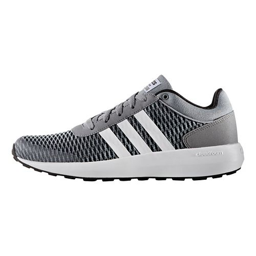 Mens adidas Cloudfoam Race Casual Shoe - Black/White/Grey 10.5