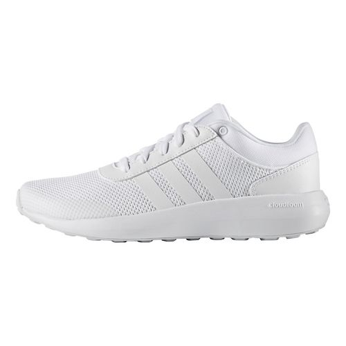 Mens adidas Cloudfoam Race Casual Shoe - White/White 10