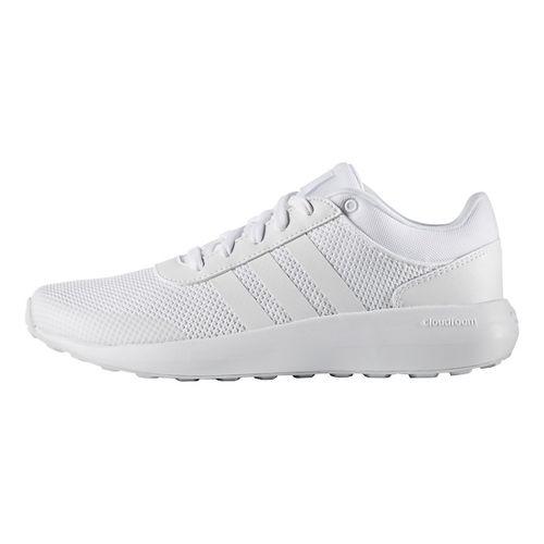 Mens adidas Cloudfoam Race Casual Shoe - White/White 8