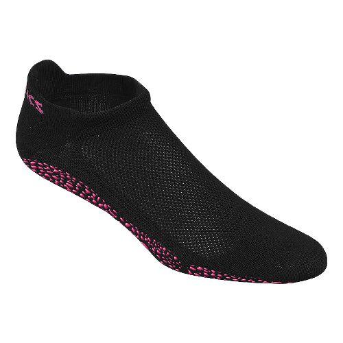 Womens ASICS Studio No-Slip Single Tab 3 Pack Socks - Black M