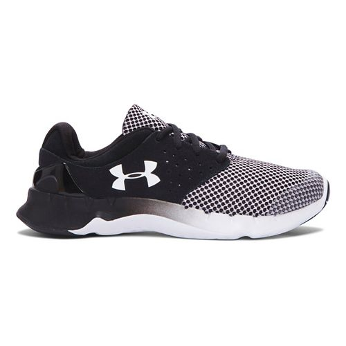 Kids Under Armour Flow RN TCK Running Shoe - Black/White 6.5Y