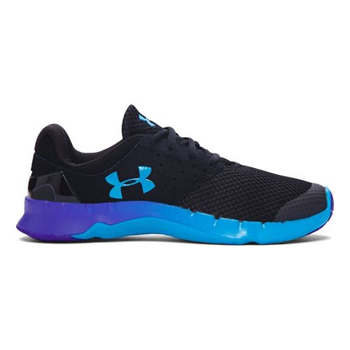 Kids Under Armour Flow RN TCK Running Shoe - Black/Purple Zest 7Y