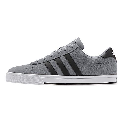 Mens adidas Daily Casual Shoe - Grey/Black/White 12
