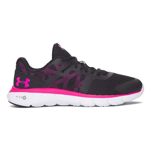 Under Armour Micro G Shift RN  Running Shoe - Black/White 7Y