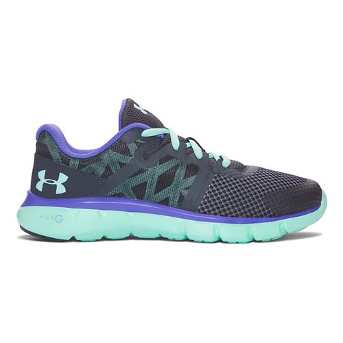 Kids Under Armour Micro G Shift RN Running Shoe - Stealth Grey/Crystal 3.5Y