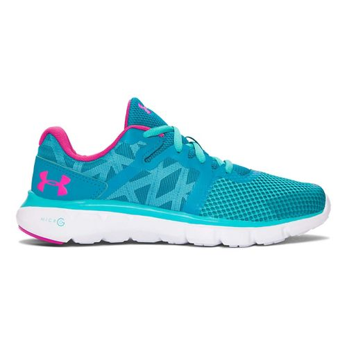 Kids Under Armour Micro G Shift RN Running Shoe - Teal/Neptune 4.5Y