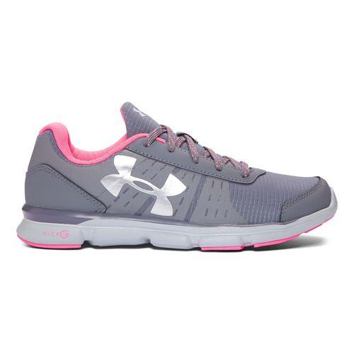 Kids Under Armour Micro G Speed Swift Grit Running Shoe - Graphite/Grey 5.5Y