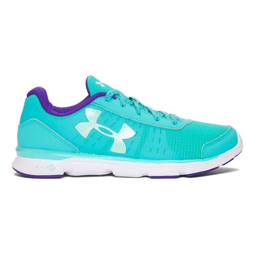 Kids Under Armour Micro G Speed Swift Grit Running Shoe - Neptune/Crystal 3.5Y