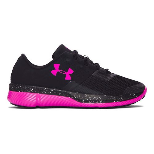Kids Under Armour Tempo Speckle Running Shoe - Black/Lunar Pink 3.5Y