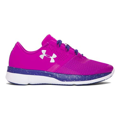 Kids Under Armour Tempo Speckle Running Shoe - Purple/Silver 7Y