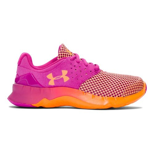Kids Under Armour Flow RN TCK Running Shoe - Lunar Pink/Orange 3Y