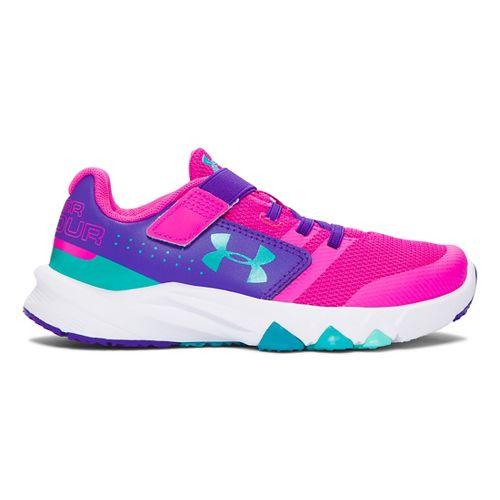 Kids Under Armour Primed AC Running Shoe - Lunar Pink/Purple 12.5C