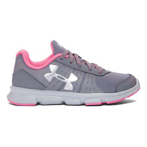Kids Under Armour Speed Swift Grit Running Shoe - Graphite/Grey 2Y