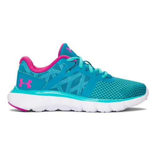 Kids Under Armour Shift RN Running Shoe - Teal/Neptune 2.5Y