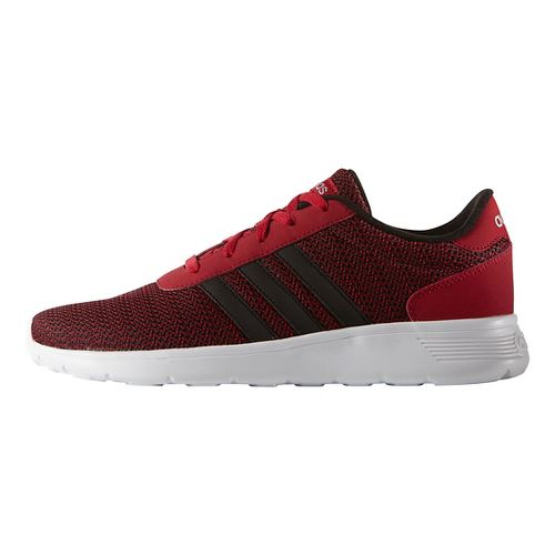 Mens adidas Lite Racer Casual Shoe - Power Red/Silver 10