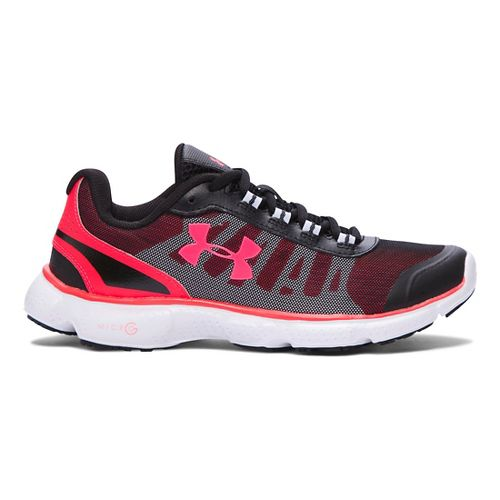 Womens Under Armour Micro G Attack 2 H Running Shoe - Black/White 7.5